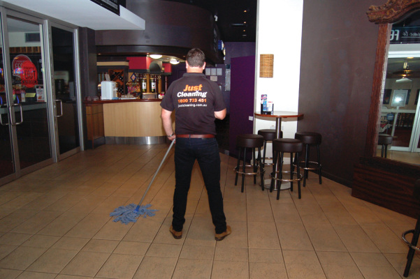Cafe cleaning